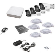 Комплект видеонаблюдения UNIVIEW NVR301-04LB-P4 + IPC2122LR3-PF40M-D 4шт