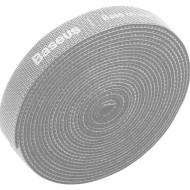 Стрічка органайзер-липучка для проводів BASEUS Rainbow Circle Velcro Straps 3м сіра