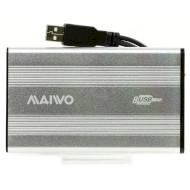 """Внешний карман MAIWO K2501A-U2S Silver 2.5"""" USB"""