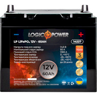 Автомобільний акумулятор LOGICPOWER LiFePO4 12В 60 Агод (LP14227)
