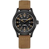 Часы HAMILTON Khaki Field Titanium Auto 42mm Black Dial (H70665533)