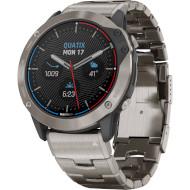 Смарт-часы GARMIN Quatix 6 Titanium Gray with Titanium Band (010-02158-95)