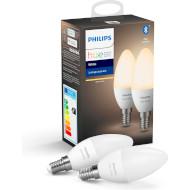 Розумна лампа PHILIPS HUE White E14 5.5Вт 2700K 2шт (929002039904)