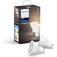 Розумна лампа PHILIPS HUE White GU10 5.2Вт 2700K 2шт (929001953506)