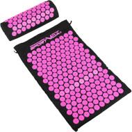 Акупунктурний килимок (аплікатор Кузнєцова) з валиком SPORTVIDA 66x40cm Black/Pink (SV-HK0352)