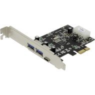Контроллер STLAB PCI-E to USB 3.0 3-Ports (A+C) (U-1340)