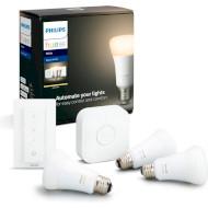 Набір розумних ламп PHILIPS HUE White Starter kit E27 9Вт 2700K 3шт (929001821620)