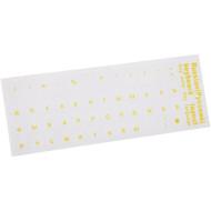 Наліпки на клавіатуру VOLTRONIC прозорі з жовтими літерами RU