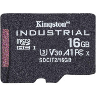 Карта пам'яті KINGSTON microSDHC Industrial 16GB UHS-I U3 V30 A1 Class 10 (SDCIT2/16GBSP)