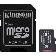 Карта пам'яті KINGSTON microSDHC Industrial 16GB UHS-I U3 V30 A1 Class 10 + SD-adapter (SDCIT2/16GB)