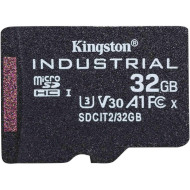 Карта пам'яті KINGSTON microSDHC Industrial 32GB UHS-I U3 V30 A1 Class 10 (SDCIT2/32GBSP)
