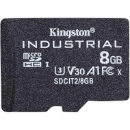 Карта пам'яті KINGSTON microSDHC Industrial 8GB UHS-I U3 V30 A1 Class 10 (SDCIT2/8GBSP)