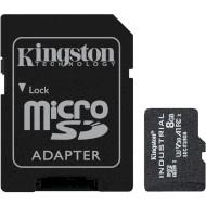 Карта пам'яті KINGSTON microSDHC Industrial 8GB UHS-I U3 V30 A1 Class 10 + SD-adapter (SDCIT2/8GB)