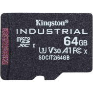 Карта пам'яті KINGSTON microSDXC Industrial 64GB UHS-I U3 V30 A1 Class 10 (SDCIT2/64GBSP)