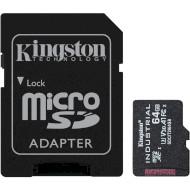Карта пам'яті KINGSTON microSDXC Industrial 64GB UHS-I U3 V30 A1 Class 10 + SD-adapter (SDCIT2/64GB)