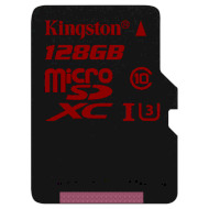 Карта памяти KINGSTON microSDXC 128GB UHS-I U3 Class 10 (SDCA3/128GBSP)