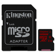 Карта памяти KINGSTON microSDXC 128GB UHS-I U3 Class 10 + SD-adapter (SDCA3/128GB)