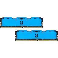 Модуль пам'яті GOODRAM IRDM X Blue DDR4 3200MHz 16GB Kit 2x8GB (IR-XB3200D464L16SA/16GDC)