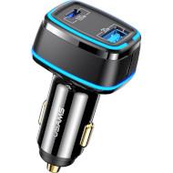 Автомобільний зарядний пристрій USAMS US-CC142 C24 120W Dual Ports Fast Car Charger Black (CC142TC01)