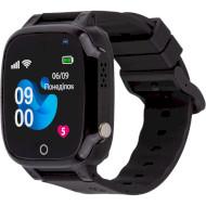 Годинник-телефон дитячий AMIGO GO008 Milky GPS Wi-Fi Black