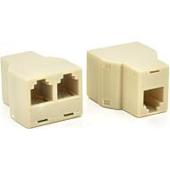 Розгалужувач порту локальної мережі VOLTRONIC 2xRJ45 8P8C White