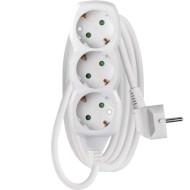 Мережевий фільтр EMOS P0322 White, 3 розетки, 2м