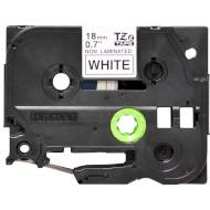 Стрічка BROTHER TZEN241 18mm Black on White