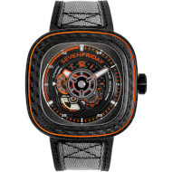 Годинник SEVENFRIDAY P-series 47.6mm Orange Carbon (P3C/09)