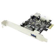 Контроллер STLAB PCI-E to USB 3.0 1+1-Ports (U-720)