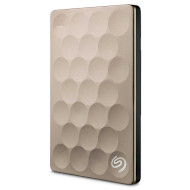 Портативный жёсткий диск SEAGATE Backup Plus Ultra Slim 2TB USB3.0 Gold (STEH2000201)