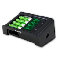 Зарядное устройство VARTA LCD Smart Charger + 4 x AA 2100 mAh (57674 101 441)