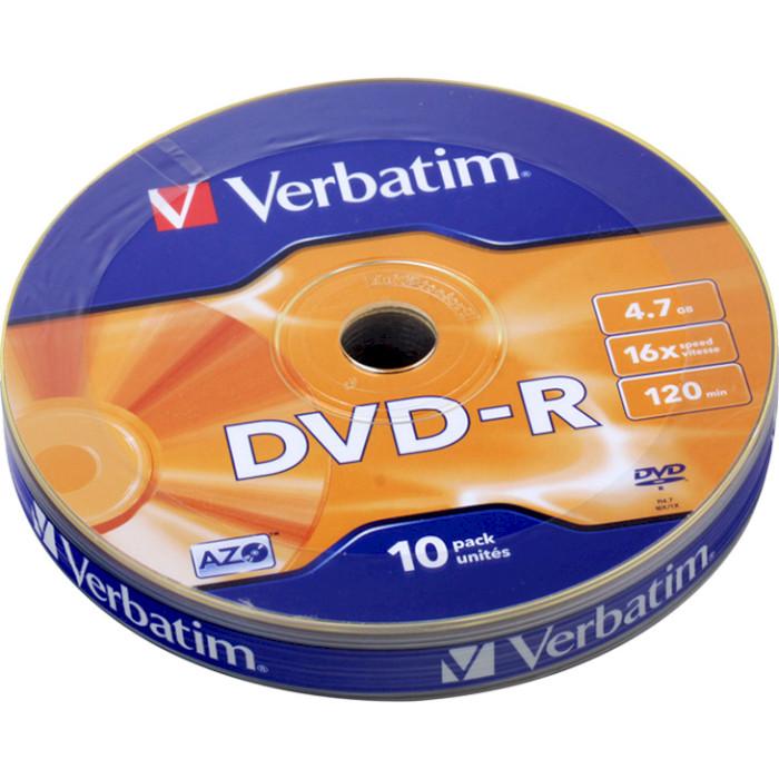 DVD-R VERBATIM AZO 4.7GB 16x 10pcs/wrap (43729)