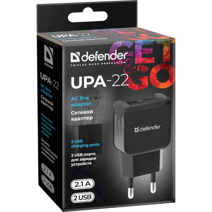 Зарядное устройство DEFENDER UPA-22 Black (83579)