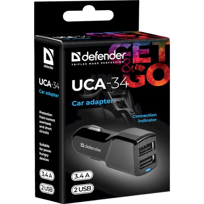Автомобильное зарядное устройство DEFENDER UCA-34 (83834)