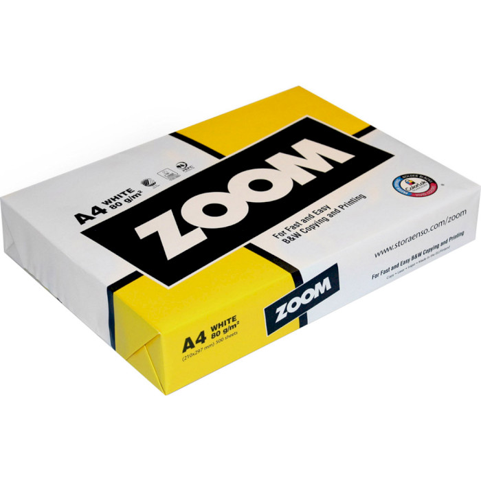 Офісний папір ZOOM Standard A4 80г/м² 500арк