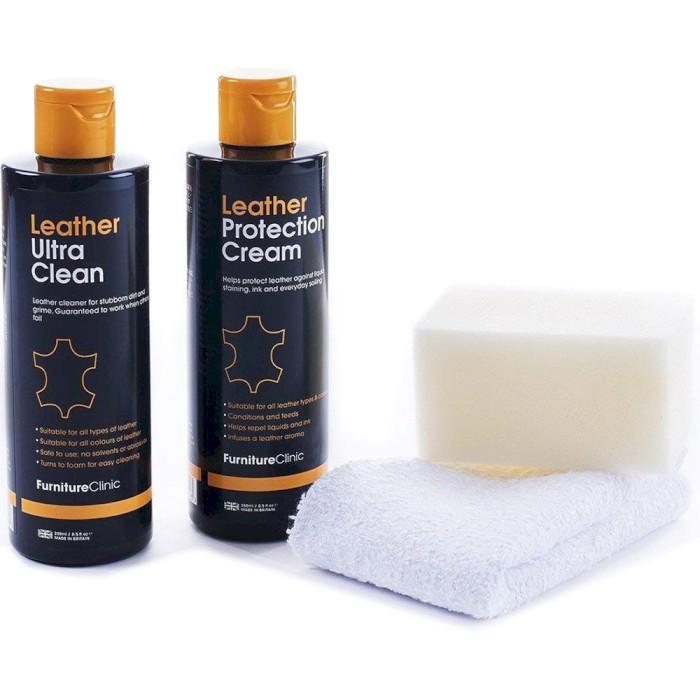 Чистящий набор для изделий из кожи FURNITURE CLINIC Leather Care Kit 250+250ml