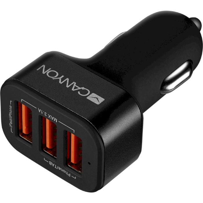 Автомобильное зарядное устройство CANYON CNE-CCA06 Black