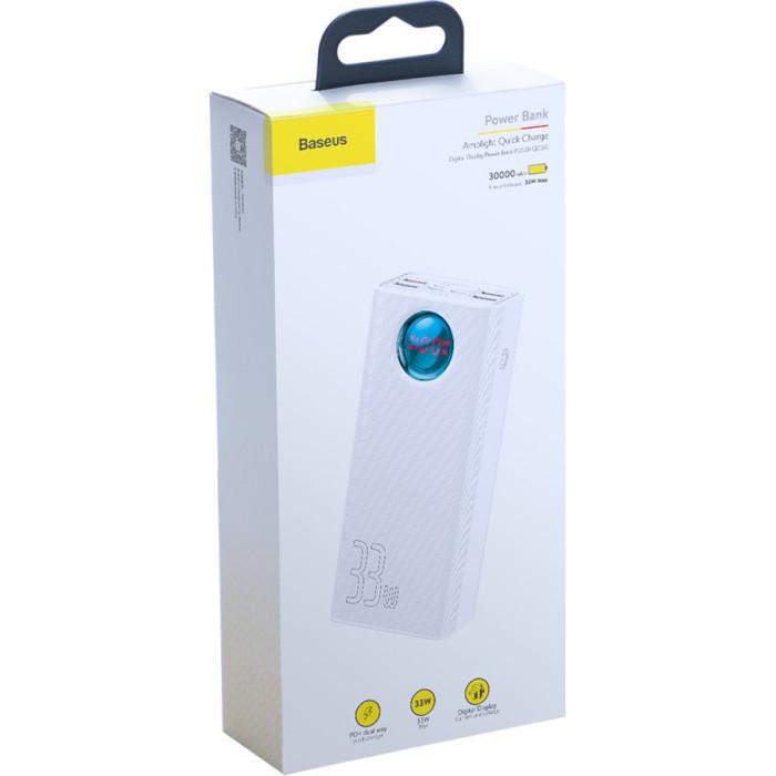 Повербанк BASEUS Amblight 30000 White 30000mAh (PPLG-02)