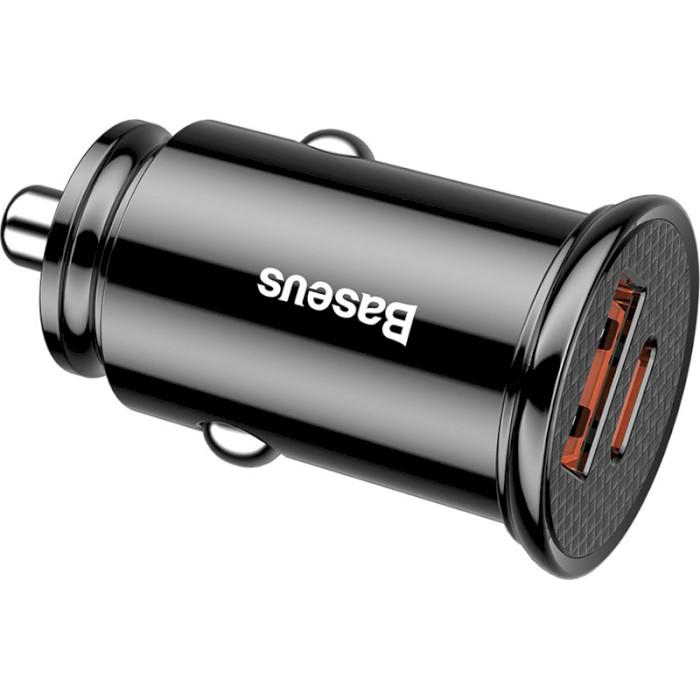 Автомобильное зарядное устройство BASEUS Car Charger Circle 30W Black (CCALL-YS01)
