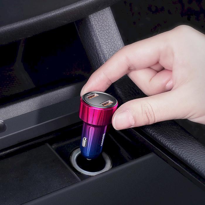Автомобильное зарядное устройство BASEUS Magic Series Dual QC Blue (CCMLC20A-03)