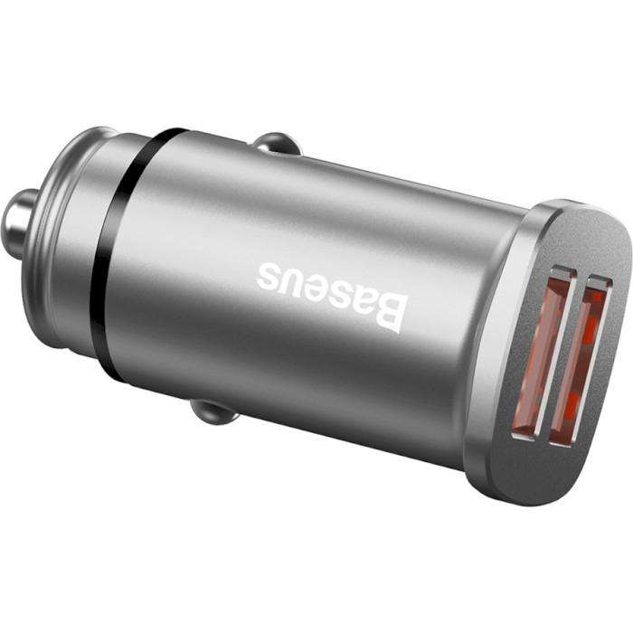 Автомобильное зарядное устройство BASEUS Car Charger Dual QC3.0 Silver (CCALL-DS0S)