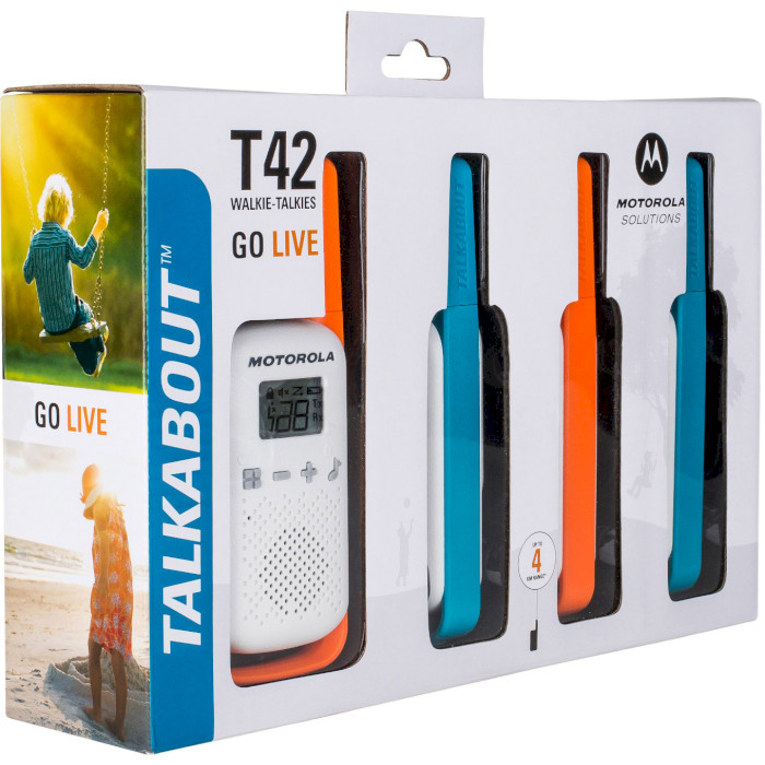 Набор раций MOTOROLA Talkabout T42 4-pack