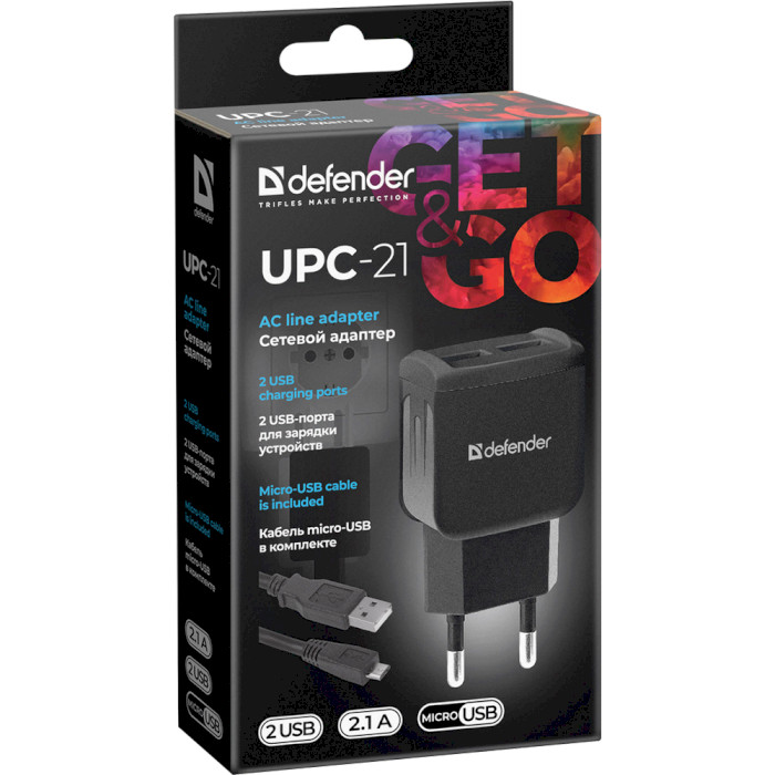 Зарядное устройство DEFENDER UPC-21 (83581)