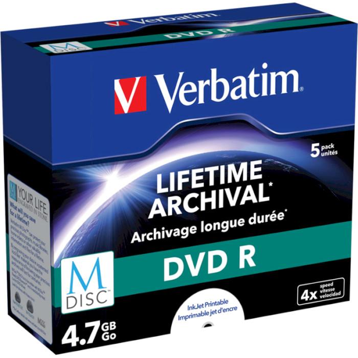 DVD-R VERBATIM MDisc 4.7GB 4x 5pcs/jewel (43821)