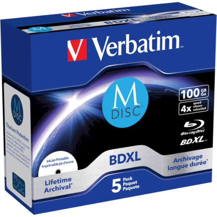 BD-RE XL VERBATIM MDisc 100GB 4x 5pcs/jewel (43834)