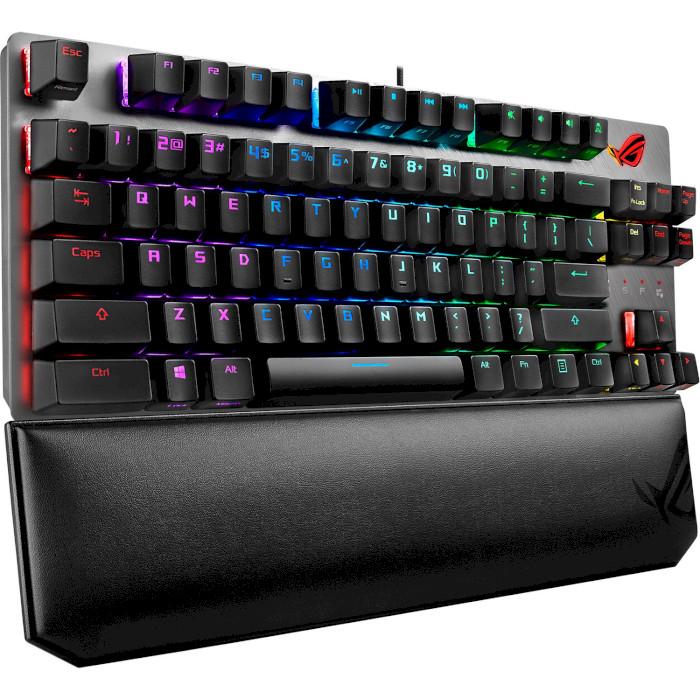 Клавіатура ASUS ROG Strix Scope TKL Deluxe MX Red Switch Ru (90MP00N5-BKRA00)
