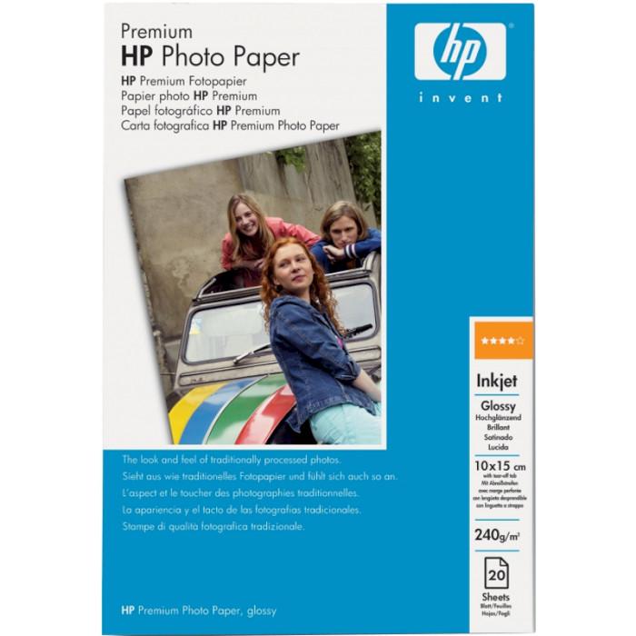Фотопапір HP Premium Glossy Photo 10x15см 240г/м² 20л (Q1991A)