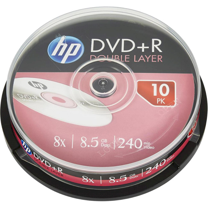 DVD+R DL HP 8.5GB 8x 10pcs/spindle (69309/DRE00060-3)