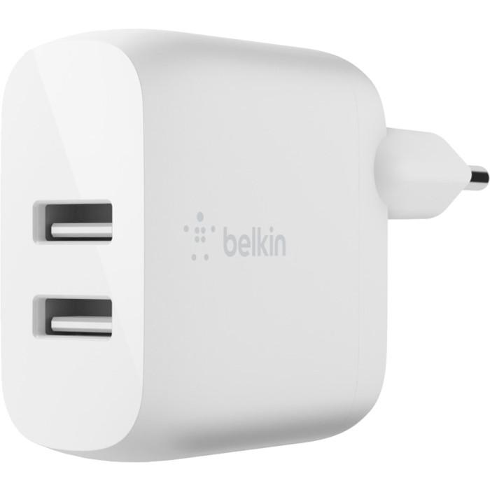Зарядное устройство BELKIN Boost Up Charge Dual USB-A Home Charger (WCB002VFWH)