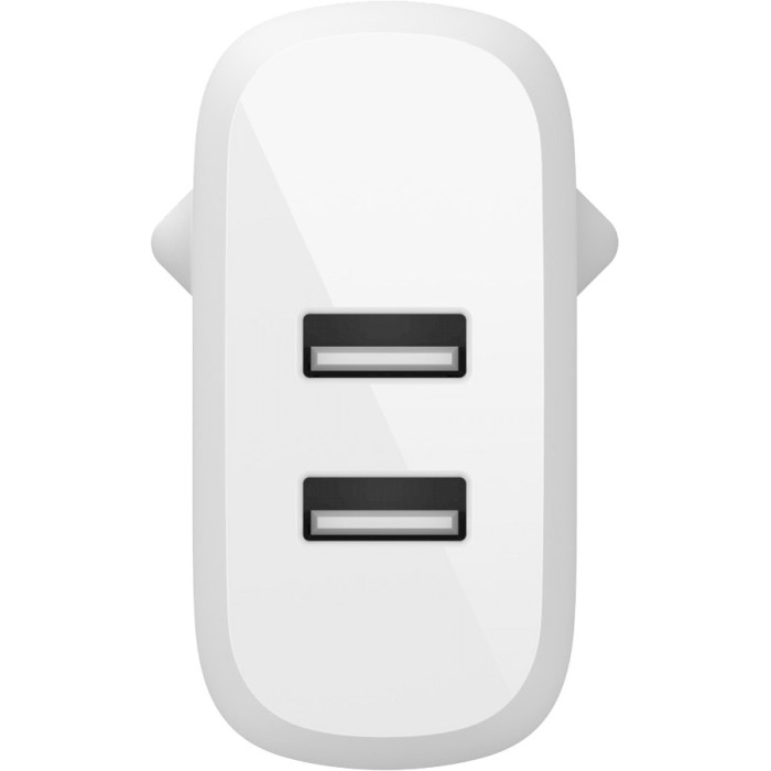 Зарядное устройство BELKIN Boost Up Charge Dual USB-A Home Charger + USB-A/Micro USB Cable (WCE002VF1MWH)